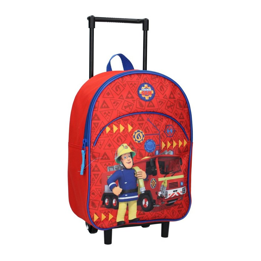 Vadobag · Dětský cestovní kufr / batoh na kolečkách Požárník Sam - 8L