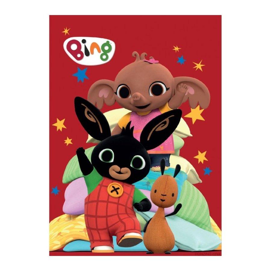 Dětská fleecová deka Zajíček Bing a jeho kamarádi