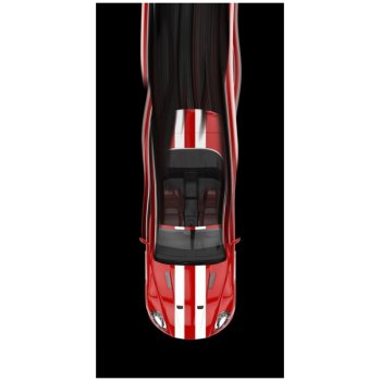 Bavlněná plážová osuška Red Car