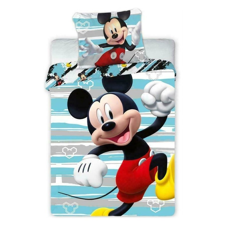 APtex · Povlečení do dětské postýlky Mickey Mouse - Disney - 100% bavlna - 40 x 60 cm + 100 x 135 cm