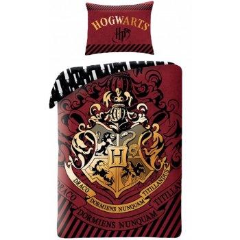 Bavlněné ložní povlečení Harry Potter - červenohnědé