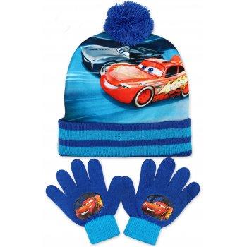 Chlapecká zimní čepice + prstové rukavice Auta - McQueen