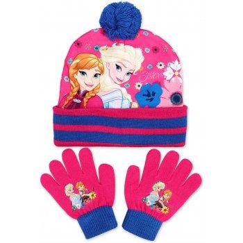 Dívčí zimní čepice + prstové rukavice Ledové království