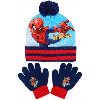 Chlapecká zimní čepice + prstové rukavice Spiderman