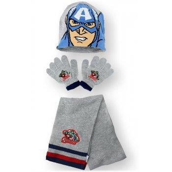 Čepice + prstové rukavice + šála Kapitán Amerika