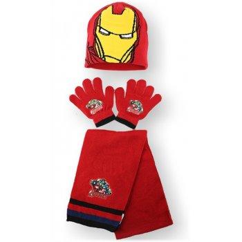 Čepice + prstové rukavice + šála Iron Man