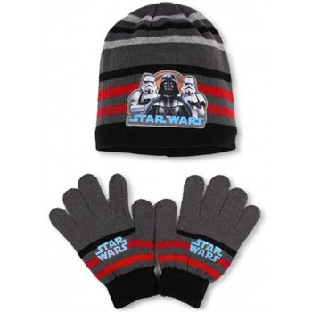 Chlapecká zimní čepice + prstové rukavice Star Wars