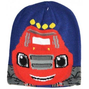 Chlapecká zimní úpletová čepice Plamínek a čtyřkoláci