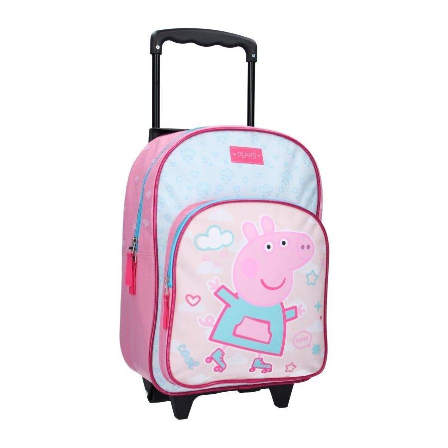 Vadobag · Dětský cestovní kufr na kolečkách Prasátko Peppa - 17L