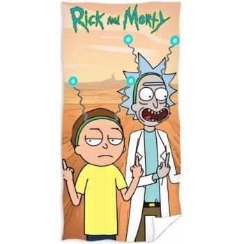 Bavlněná plážová osuška Rick and Morty