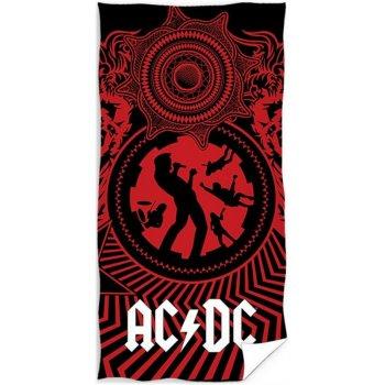 Bavlněná plážová osuška AC/DC - Black Ice