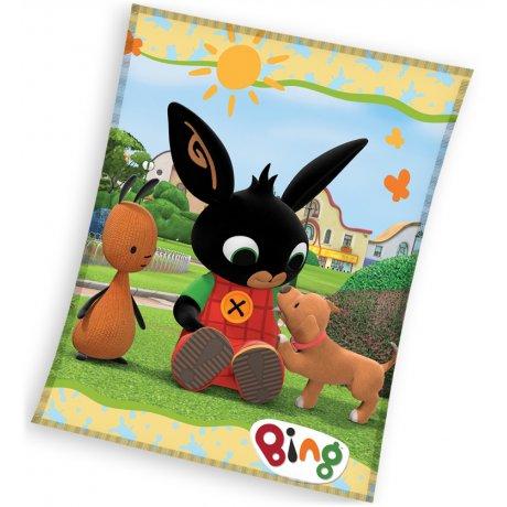 Dětská fleecová deka Zajíček Bing a štěně