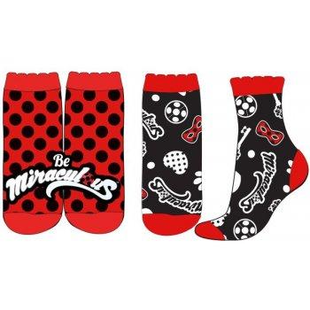 Dívčí ponožky Kouzelná beruška - Ladybug (2 páry)