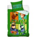 Bavlněné ložní povlečení Scooby-Doo - zelená čtyřka