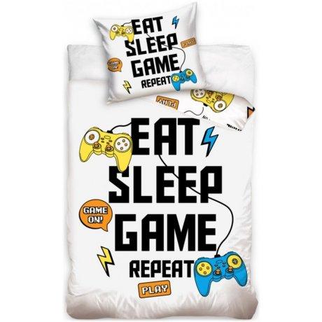 Bavlněné ložní povlečení Eat - Sleep - Game and Repeat