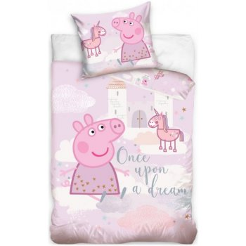 Povlečení do dětské postýlky Prasátko Peppa - Růžový sen