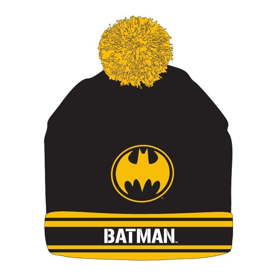 Zimní čepice s bambulí Batman