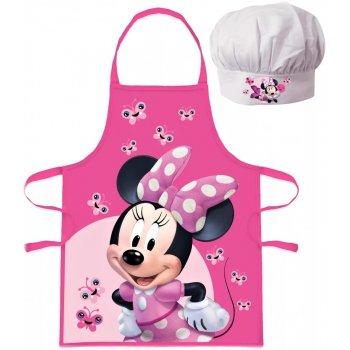 Dětská zástěra s kuchařskou čepicí Minnie Mouse - Disney - s motýlky