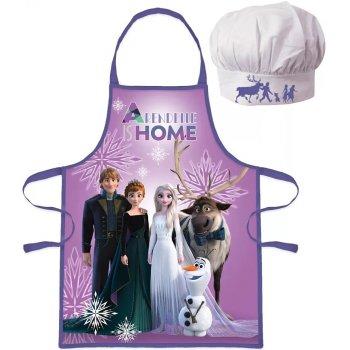 Dětská zástěra s kuchařskou čepicí Ledové království - fialová
