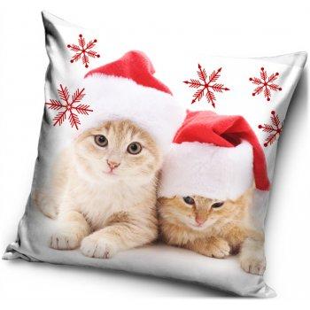 Vánoční povlak na polštář Koťata