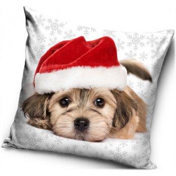Vánoční povlak na polštář Štěně