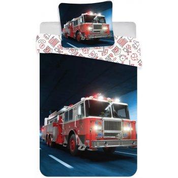 Bavlněné ložní povlečení s požárním autem