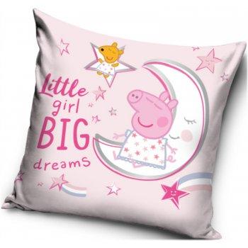 Povlak na polštář Prasátko Peppa - Little girl, Big dreams