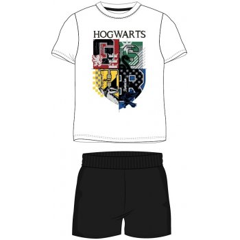 Pánské krátké pyžamo Harry Potter - bílé