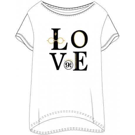 Dámské triko na spaní Harry Potter - LOVE