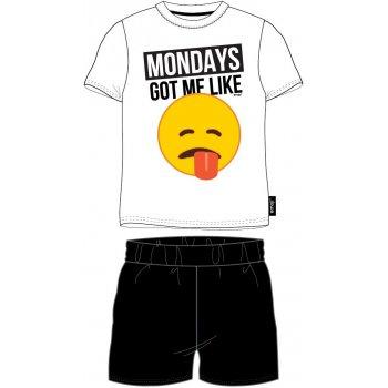 Pánské bavlněné pyžamo Emoji - Mondays got me like