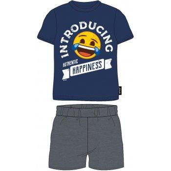 Pánské bavlněné pyžamo Emoji - Introducing authentic happiness