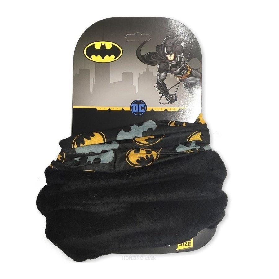 E plus M · Dětský / chlapecký nákrčník / multifunkční šátek Batman Černá