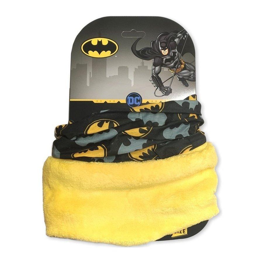 E plus M · Dětský / chlapecký nákrčník / multifunkční šátek Batman Žlutá