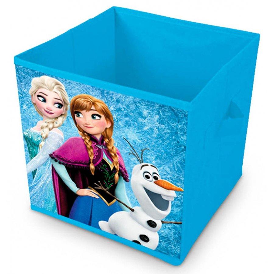 Eli · Úložný box na hračky / koš na hračky - Ledové království - Frozen - s princeznami Annou a Elsou - 28 x 28 x 28 cm