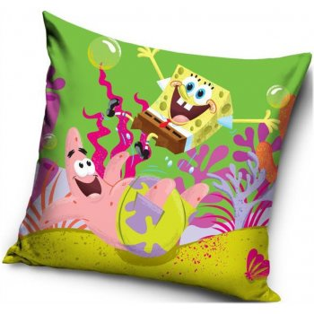 Povlak na polštář veselý Spongebob a Patrik