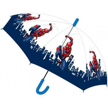 Dětský transparentní vystřelovací deštník Spiderman