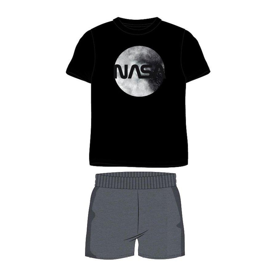 Pánské krátké pyžamo NASA - černé