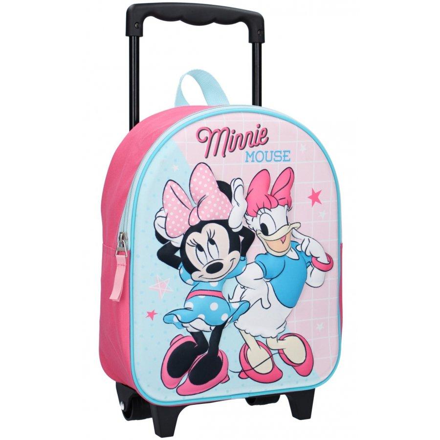 Dětský cestovní 3D batoh na kolečkách Minnie Mouse