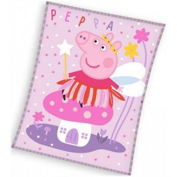 Velká dětská fleecová deka Prasátko Peppa - Víla