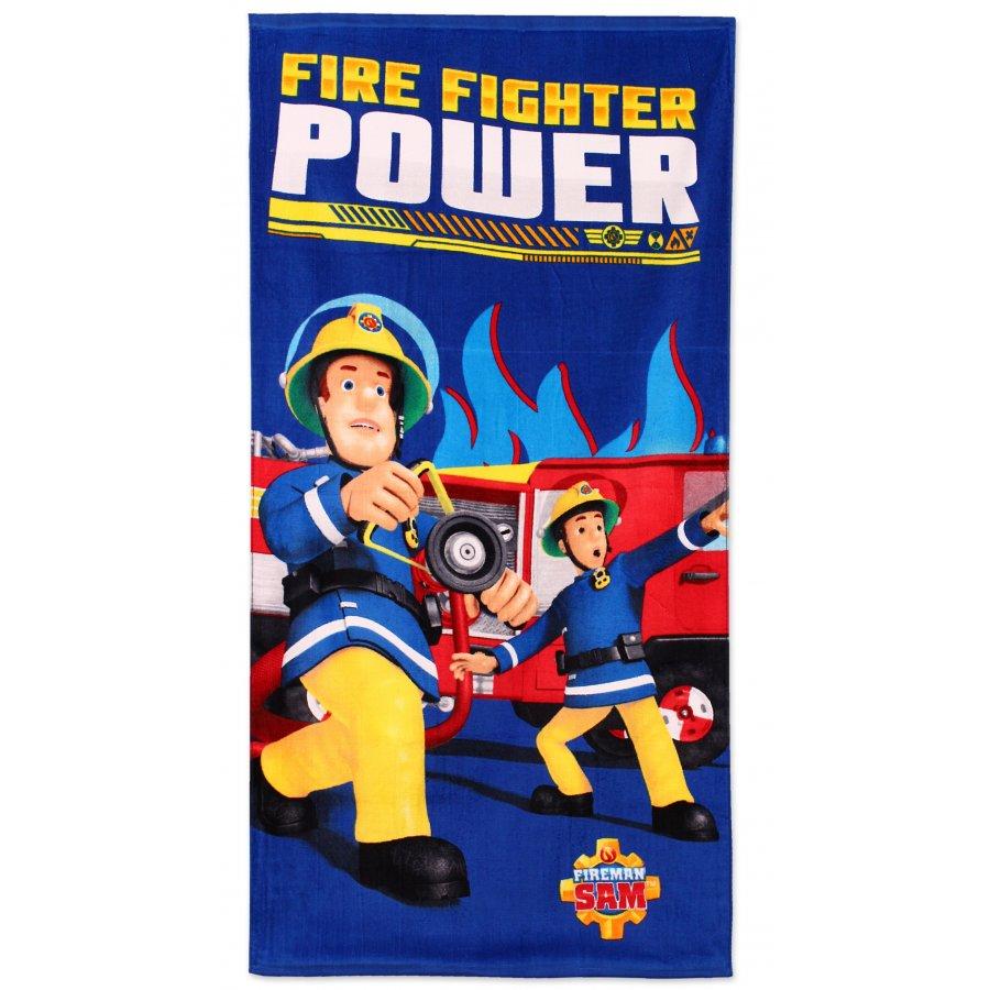 Setino · Dětská plážová osuška Požárník Sam - Hasič Sam - Fireman Sam - 70 x 140 cm