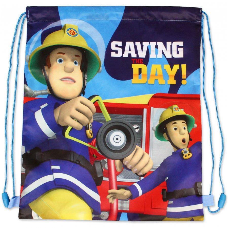 Setino · Sáček na přezůvky / vak na záda Požárník Sam - Hasič Sam - Fireman Sam - 33 x 41 cm
