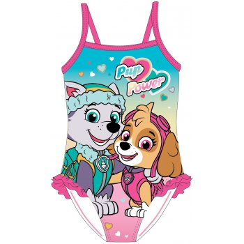 Dívčí jednodílné plavky Tlapková patrola - Pup Power
