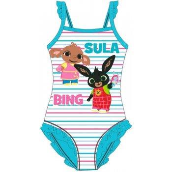 Dívčí jednodílné plavky Zajíček Bing a Sula