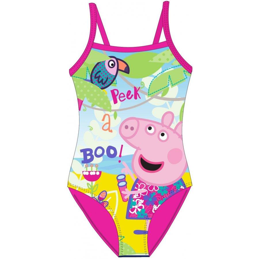 Dívčí jednodílné plavky Prasátko Peppa
