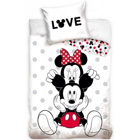 Bavlněné povlečení Mickey & Minnie Mouse - LOVE