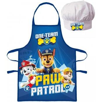 Chlapecká zástěra s kuchařskou čepicí Tlapková patrola - One Team