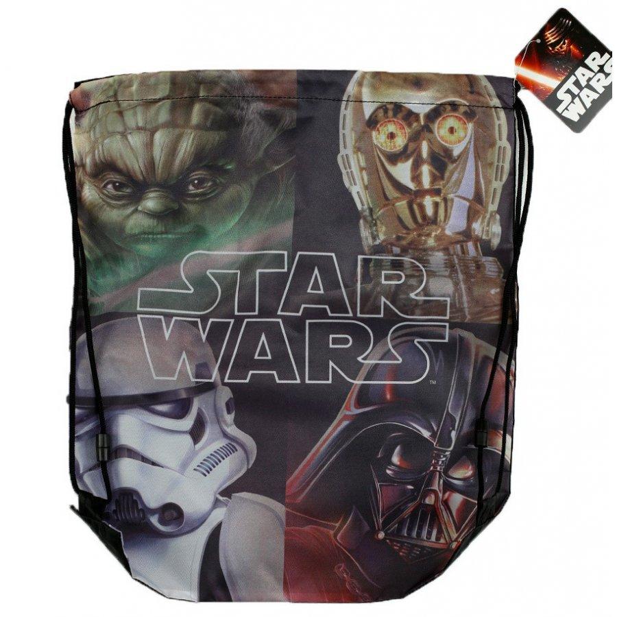 Setino · Sáček na přezůvky / vak na záda Star Wars - Hvězdné války - 33 x 41 cm