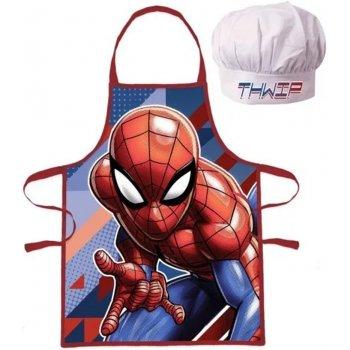 Dětská zástěra s kuchařskou čepicí Spiderman - Thwip