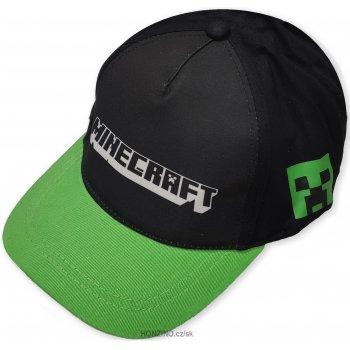 Kšiltovka Minecraft se zeleným kšiltem