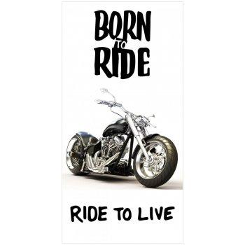 Bavlněná plážová osuška Born to ride